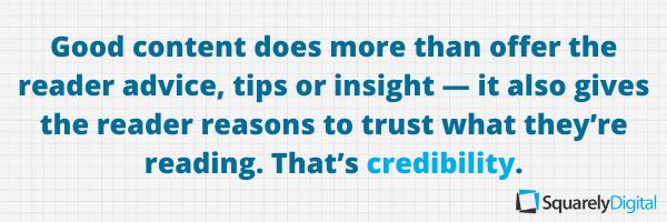 content marketing credibility